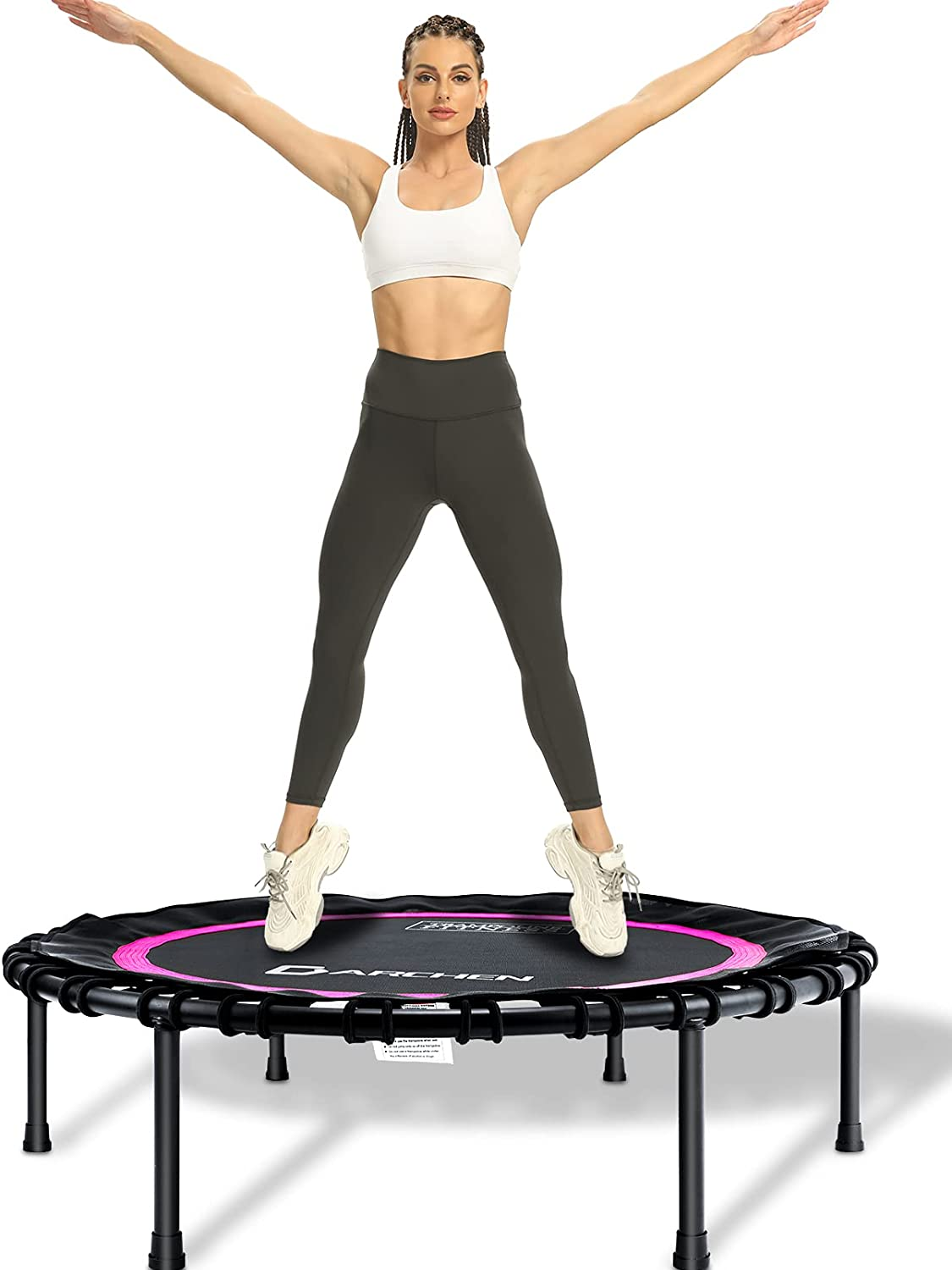 DARCHEN 350lbs New Shipping Free Shipping Rebounder Mini Trampoline Excellence Adult for Indoor Small
