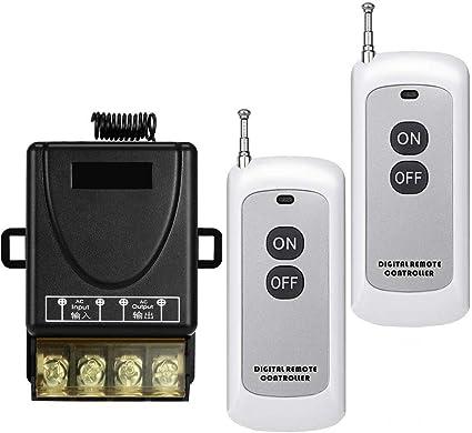 YETOR Remote Switch,110V/120V/240V /40A Relay Wireless RF Switch
