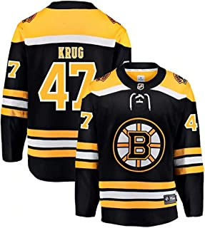 Boston Bruins Torey Krug 47# Hockey Jersey Practice Jersey Player Jersey Sports T-Shirt Fan Clothing for Women&Men&Youth Kids