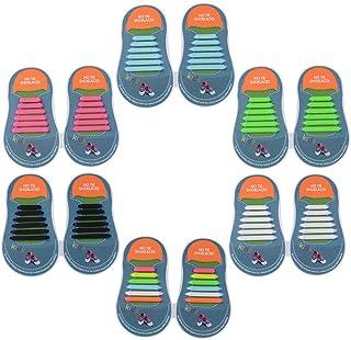 comprar comparacion Yuccer Cordones Zapatillas Elasticos, Paquete de 6 Cordones de Goma de los Niños de Silicona Resistente al Agua