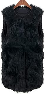 Women's Winter Warm Thick Soft Fluffy Faux Fur Sleeveless Vest Gilet Waistcoat Coat