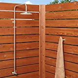 Signature Hardware 401594 Stainless Steel Outdoor Shower Trim with Single Function Shower Head