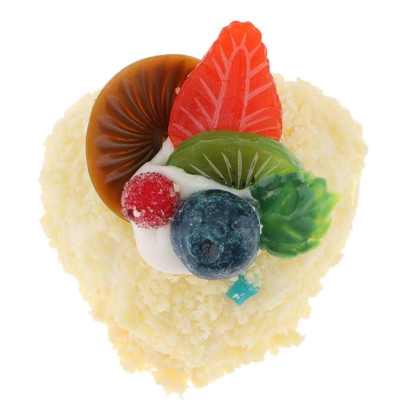 クスクス午後登場テーブル装飾 食品サンプル 装飾 ケーキ模型 ディスプレイ 鮮やか 1個入り 全13種 クリーム, 約6x5cm