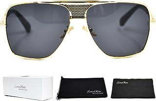 793e867a0 SamuRita Metal Celebrity Flat Top Aviator Sunglasses Oversized Designer  Shades