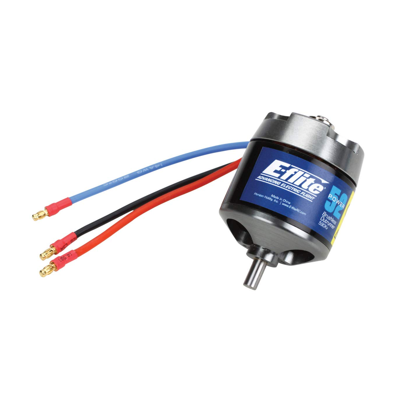 E-flite Power 52 Brushless Outrunner Motor, 590Kv: 4mm Bulle