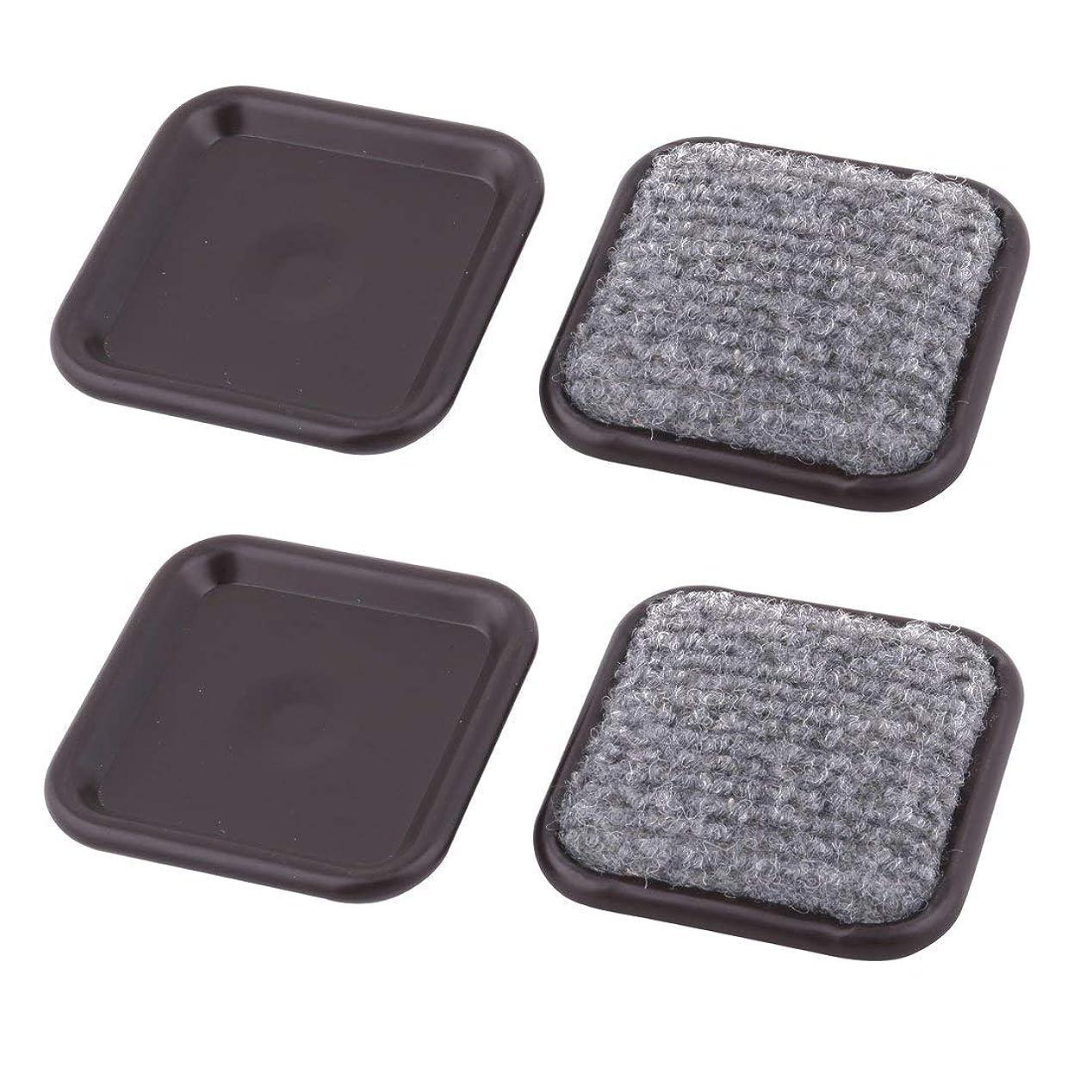 ピーブラベンダー柔らかい足eDealMax家具パッドスクエア再利用可能なアルミニウム2.4