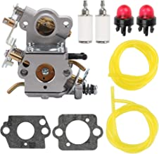 Wellsking P3314 Carburetor Carb for Poulan P3416 P3816 P4018 PPB4218 P3818AV P4018AV PP3816AV PP4218AV PP4218AVL SM4218AV S1970 Chainsaw # 530035589 530035590 ZAMA W-26 C1M-W26