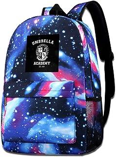 Galaxy Impreso Hombros Bolsa Umbrella Academy Varsity School Crest Moda Casual Star Sky Mochila para niños y niñas