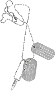 Gadget Deals Military Dog Tag Alloy Pendant with Chain