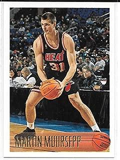 Martin Muursepp 1996-97 Topps Miami Heat Rookie Card #160