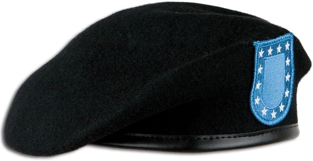 Unbekannt Us Barett Schwarz Mit Abzeichen Größe 58 Bekleidung