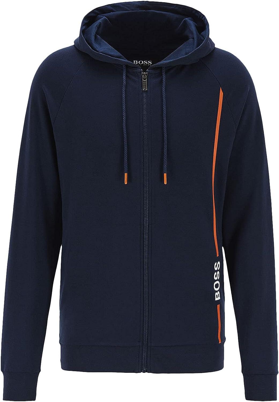Hugo Boss Men's Fashion Jacket, Navy Blue/Orange, L