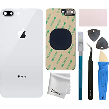 Rear Glass for Apple iPhone 8 Plus White with Tool Kit