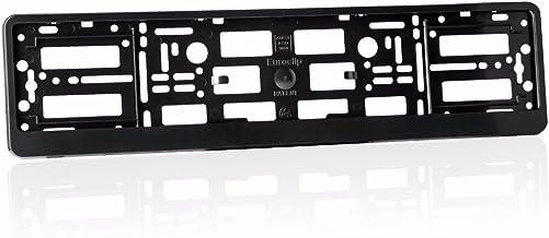 LncBoc 2 x Effect License Number Plate Surrounds Holder Frame License Plate Holder for all cars ABS PC plastic Black)