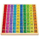 Natureich 1x1 para alumnos de primaria / ábaco de madera / dados de colores con tareas / diversión y juego para genios de las matemáticas / aprendizaje fácil
