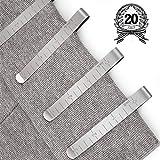 Juego de 20 clips de costura de acero inoxidable de 7,6 cm,regla de medición para colchar,accesorios para marcar