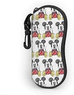 Mickey Mouse Eyeglass Case, Portable Travel Zipper Sunglasses Case Glasses Bag Guard Set