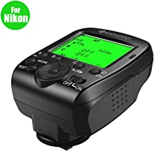 GEEKOTO Flash Trigger for Nikon Cameras, i-TTL 2.4G Wireless Flash Transmitter Kit with LCD Display, High-Speed 1/8000s, Multi Customizable Functions, 4 Groups and 16 Channels