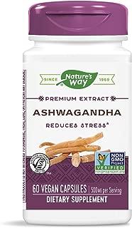 Nature's Way Ashwagandha, 500 mg per Serving, 60 Vcaps (Packaging May Vary)(Packaging May Vary)