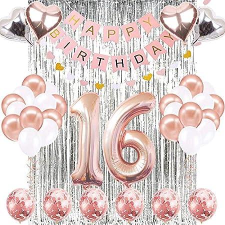 16 Geburtstag Geburtstag Party Dekoration Geburtstag Party Dekorativ Karten und H/ängende Strudel Decken Dekoration Gl/änzende Feier H/ängende Wirbel Dekorationen f/ür 16 30 St/ücke 16