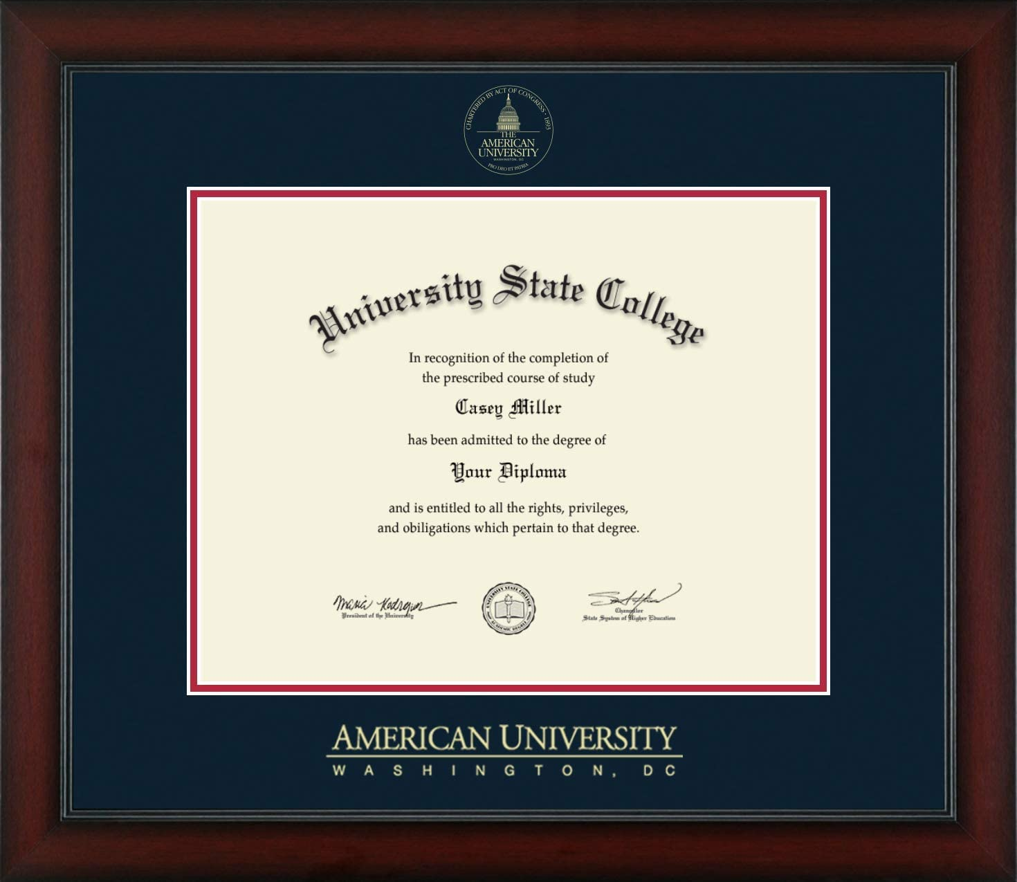 American University - Officially 35% OFF Diplom Embossed Licensed Gold Phoenix Mall