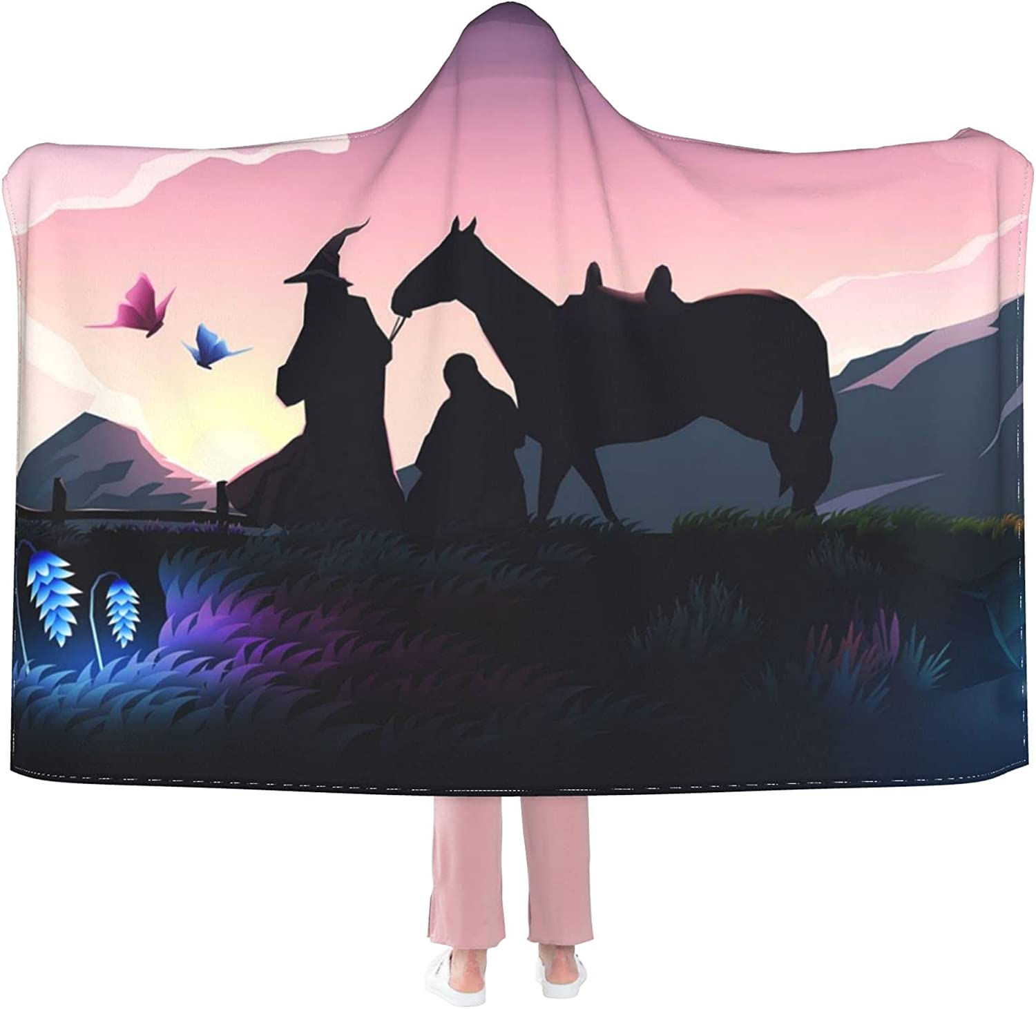 The-Lord-of-The-Rings 5 popular The Hooded Blanket Warm and is Seattle Mall Comfortable