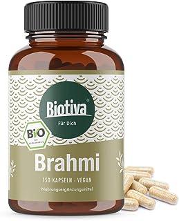 Cápsulas de brahmi orgánicas - 150 cápsulas - 500 mg por cápsula - Bacopa Monnieri - planta para la memoria - vegana - garantizada sin aditivos - llenada y verificada en Alemania (DE-ÖKO-005)