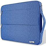 Voova 15 15.6 14 Pulgadas Funda para Portátil, Impermeable con Interior Suave, Compatible con MacBook Pro,Surface Laptop 3 15,XPS 15, Chromebook 14/15 con Asa y Bolsillos Laterales,(Bleu Clair)