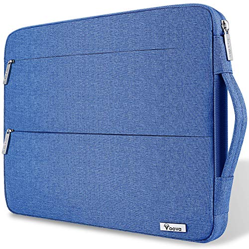 Voova Laptop Hülle Tasche 14-15.6 Zoll mit Griff,wasserdichte Laptoptasche Sleeve für MacBook Pro 15.4/Surface Book 2 15/Dell XPS 15/Chromebook mit 2 Taschen,Notebook Laptophülle Schutzhülle Case