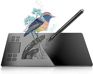 [イラスト 板タブ]VEIKK A50ペンタブレット 10*6インチ ペンタブ ショートカットキー8個 8192レベル充電不要ペン アメリカ風ペンタブレット イラスト専用品 正規品 Mac/Windows OSとPhotoshop、ClipSt...