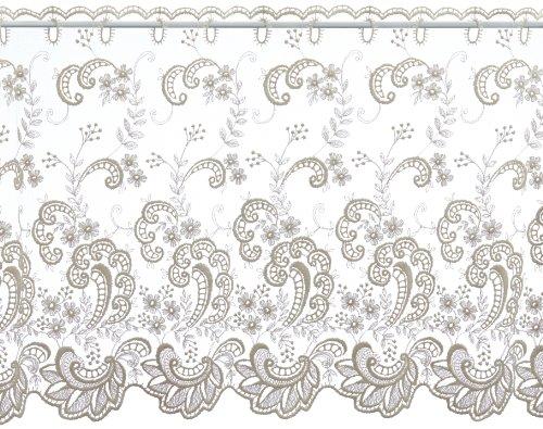 Plauener Spitze by Modespitze, Tendina Corta Decorativa, Altezza: 65 cm, Beige (Champagner), Larghezza: 178 cm