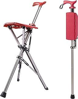 Opklapbare stoelstok, opvouwbare krukstoel, aluminium wandelstok en stoel met 3 poten, reclame voor buitenreizen, antislip...