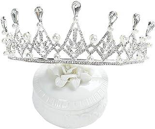 RKY Ragazze Copricapo, Bambini Ragazze Corona Copricapo Corona Principessa Girls Corone Bambini di Cristallo Fascia Strass...