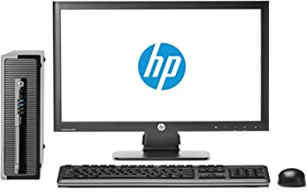 "HP EliteDesk 800 G1 SFF - Ordenador de sobremesa + Pantalla 20"" (Intel Core I5-4570 Quad Core, 8GB RAM,SSD de 240 GB, DVD, Windows 10 Pro Original) Negro (Reacondicionado)"