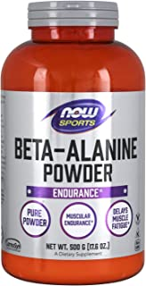 NOW Sports Nutrition, Beta-Alanine Pure Powder 2,000 mg, Muscular Endurance*, 500 Grams