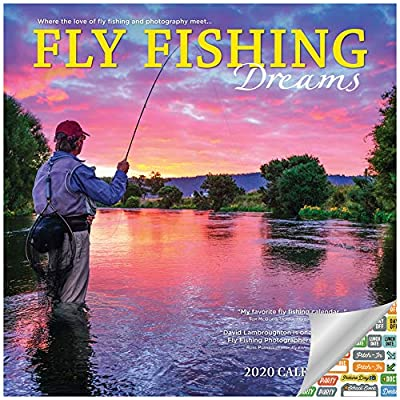 Fly Fishing Calendar 2020 Set - Deluxe 2020 Fishing Wall Calendar with Over 100 Calendar Stickers (Fisherman Gifts, Office Supplies)