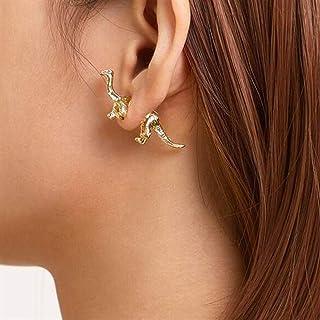 LOGU 3D Dinosaur Earrings Women Girls Pterodactyl Animal Piercing Piercing Earrings Halloween Gift Party Jewelry (Color : ...