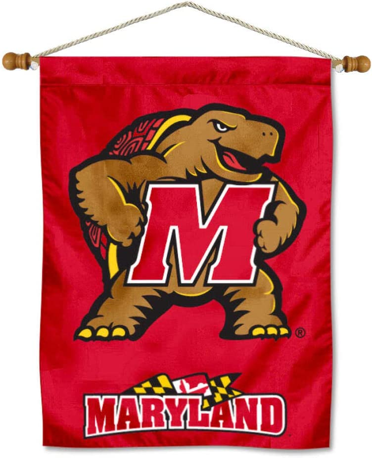 College Flags Banners Co. Maryland Banner Hangi Super beauty product restock Limited time sale quality top Terrapins with