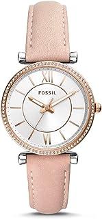 Fossil ES4484 Ladies Watch – Carlie Three-Hand Blush Leather