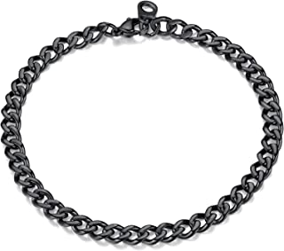 Sponsored Ad - FindChic Curb Chain Bracelet for Men or Women 18K Gold Plated/Stainless Steel/Black Chunky Wrist Link Chain...