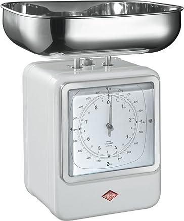 (White) - Wesco Retro Scales with Clock - White