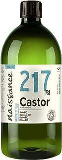 Naissance Organic Cold Pressed Castor Oil (nr. 217) 1 liter - Puur, Gecertificeerd Biologisch, Ongeraffineerd, Veganistisc...