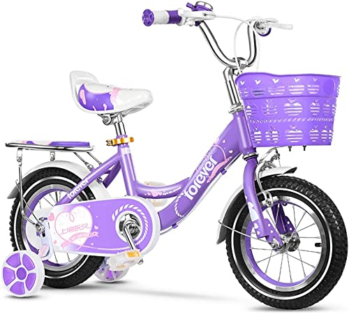 en stock Axdwfd Infantiles Bicicletas Bicicleta para Niños con ruedas ruedas ruedas de entrenamiento, 12 14 16 18 pulgadas Pedal ligero clásico Bicicleta para Niños pequeños con asiento y manija ajustables en altura para ni  marcas en línea venta barata