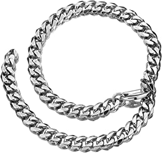 15mm Heavy Polished Cuban Link Chain Stainless Steel Hip Hop Miami Ropper Necklace Xxxtentacion Choker