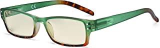 Eyekepper Blue Light Filter Glasses Women - UV420 Protection Fashion Computer Reading Glasses - Green +1.50