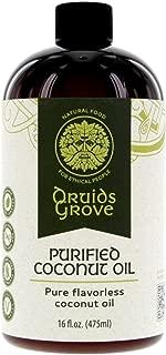 Druids Grove Organic Purified Coconut Oil ☮ Vegan ⊘ Non-GMO ❤ Gluten-Free - 16 fl.oz.