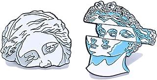 Cute Unique Enamel Pin Set - Novelty Art Enamel Lapel Pin Set - Funny Cartoon Enamel Brooch Pin Pack for Girls Boys Women Men
