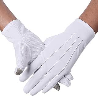 JISEN Men Police Formal Tuxedo Honor Guard Parade Nylon Cotton Gloves 26cm