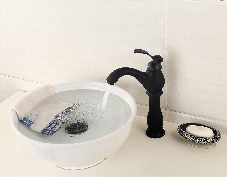 LHS European retro black Bronze basin water faucet