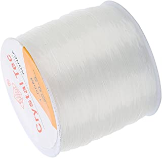 Baoblaze 1 Roll of 100 Meters 0.8mm Clear Strong Elastic Stretchy Thread Beading String Cord for DIY Necklace Bracelets Jewelry Crafts